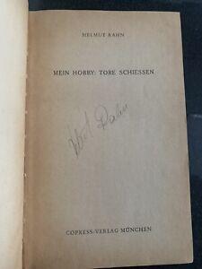 Autogramm Helmut Rahn Buch Tore Schiessen WM WC 1954,1958 signed RWE MSV DFB alt