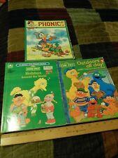(LOT of 3) Activity Coloring Books ~Mickey's Phonics + Sesame Street '92 + '06~