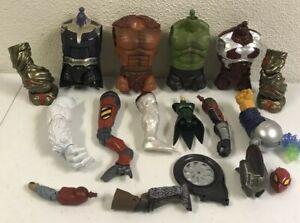 Marvel Legends BAF Parts Lot Of 17 Hulk Thanks Cali ban Etc.