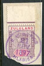 ZULULAND: (16397) purple HLABISA postmark/cancel