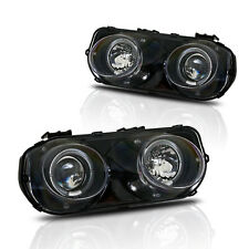 Stealth 1994-1997 Acura Integra Projector Halo Headlights - Black/Clear