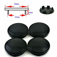 1 Set 58mm Vehicle Car Wheel  Hub Center Cap Decoration Cover All Black ABS DIY