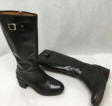 Hunter May Black Leather Tall Riding Boots 10m