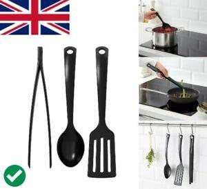 3-piece Kitchen Utensil Set Spatula Spoon and Tong Non-Stick Friendly