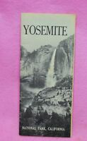 Vintage YOSEMITE National Park Brochure 1962