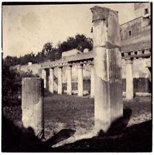 Ercolano Naples columns Collodium photo Small Original vintage 9x9 cm 1899