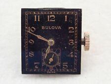 VINTAGE MENS BULOVA CALIBER 8AH 17J BLACK DIAL WRISTWATCH WATCH MOVEMENT PARTS