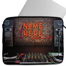 Personalised Laptop Cover DJ MIXING MUSIC Neoprene Sleeve Case Universal ST188
