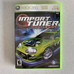 Import Tuner Challenge VG Disc CIC Microsoft XBOX 360 2006) Complete Tested RARE