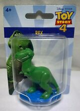 "NEW MATTEL DISNEY TOY STORY 4 REX MINI 2"" INCH CAKE TOPPER / COLLECTOR'S FIGURE!"