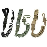 Army Tactical Gun Pistol Lanyard Sling Strap Gear Belt Bungee Outdoor Hunting