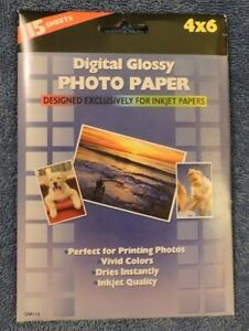 Digital Glossy Photo Paper 4 X 6 (15 Sheets for Inkjet Printers)