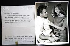 "VINTAGE 8""X10"" PHOTO JOHN ERICSON CLORIS LEACHMEN NIGHT PANIC KRAFT NBC NOTICE"