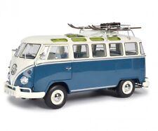 Schuco 1/18 Volkswagen T1b Samba Wintersport blue white 450037600