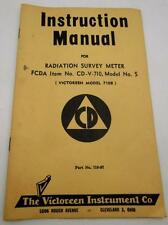 Instruction Manual Victoreen Model 710B Radiation Survey Meter Civil Defense 50s