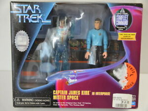 Playmates 1991 Star Trek Captain James Kirk in Interphase Mr. Spock in OVP 65174