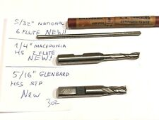 "2 NOS Waterville Tool Co 5//16/"" HSS Reamer Made in USA CC.4.4A"