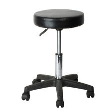 Pneumatic Rolling Adjustable Swivel Stool Work Spa Chair With Casters Wheel