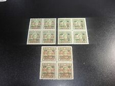 CHINA 1943 Sc#8N57-59 Postal Service Complete Blk/4 MNH-XF