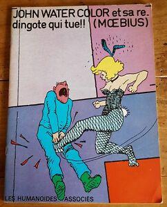 RARE EO LES HUMANOÏDES ASSOCIÉS 1976 + MOEBIUS : JOHN WATERCOLOR