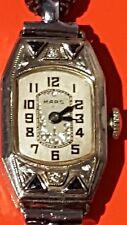 14 ct white gold  mars watch by Gallet & co c1920