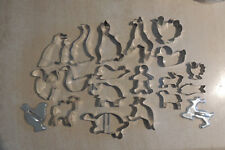 Tin Metal Cookie  Cutters Deep Cut  ALL TYPE  Animals 20 PIECE  NEW ALL SIZES