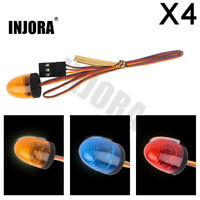 4PCS 13x17mm LED Flashing Police Light for 1/10 RC Car 1/14 Tamiya Tractor Truck