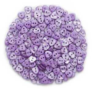 50pcs Purple Heart Shape Resin Buttons Sewing Scrapbooking Cloth Home Decor 12mm