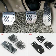 3x Non-slip Aluminum Alloy Foot Pedal Pad Cover Car M/T Accelerator Brake Clutch