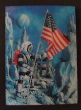 "Very rare 1966 3D Hologram Postcard "" A Message from the Moon"" WC Jones"