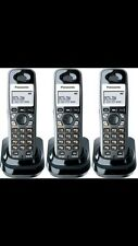 Panasonic KX-TGA931T Wall Mountable Cordless Phone DECT 6.0 1.9GHz 3 Pack