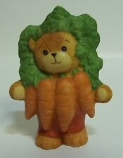 Enesco Lucy & Me Teddy Bear Vegetable Carrots Lucy Rigg 1988