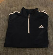 Nwt Adidads Golf 1/4 Zip Zip Pullover Mens Size Xxl 2Xl Navy Blue White A4