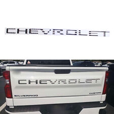 Black USA Flag Tailgate Decal for CHEVROLET Silverado 1500 2500 3500 2019-20