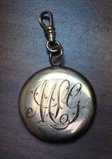 Inscribed Gold Filled Locket Pendant C-512 Vtg Victorian Bb Co Bliss Brothers