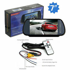 "7"" TFT LCD Car Rear View Mirror Monitor 2ch Video In 12/24V For Rear View Camera"