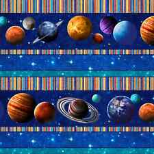 Planets, Stars, Border Stripe, Across the Universe, Northcott (By 1/2 yard)