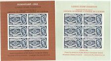 1962 Eurostamp London Stamp Exhibition 6d+1/6 Europa Miniature Sheets x2