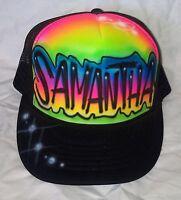 1689404ac Emily Your Name Gift Trucker Hats Caps Personalized Custom Graffiti ...