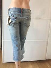 Mogul Jeans 3/4 Jenna Board Gr 26 Hellblau Used Denim Neu mit Etikett
