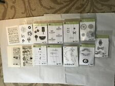Lot 170+ Stampin Up & Other Unmounted Rubber & Acrylic Stamps - Great Variety!