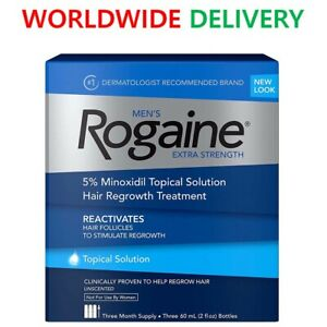 Men's Rogaine Extra Strength 5% Minoxidil Topical Solution, 3 months