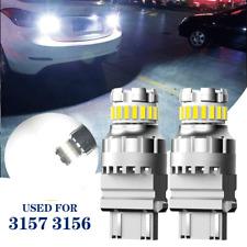 2x 3157 3156 4157 LED Bulbs Backup Reverse Light 6500K White Canbus Error Free
