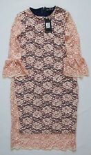 Next Maternity Dress Lace Pink Size 8