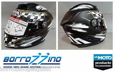 CASCO INTEGRALE 100% CARBONIO KEVL-AR AIROH GP 500 CHECK BLACK MATT- NERO TG.XL