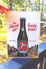ORIGINAL 2001 The Fresh UP,family drink, 7up advertising soda pop vintage sign