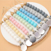 Food Grade Silicone Beads Baby Teething Pacifier Holder Toy Dummy Soother Clips