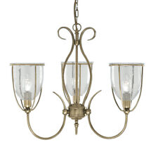 Searchlight Silhouette 3 Lights Antique Brass Ceiling Pendant Chandelier Fitting