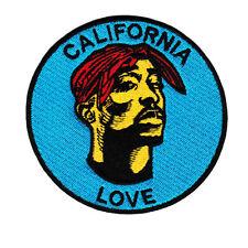 Cool Vintage Style Tupac California Hip Hop Rap DJ Shirt Patch Badge 9cm