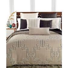 NEW Hotel Collection Emblem Beige Black KING Duvet Cover MSRP $330